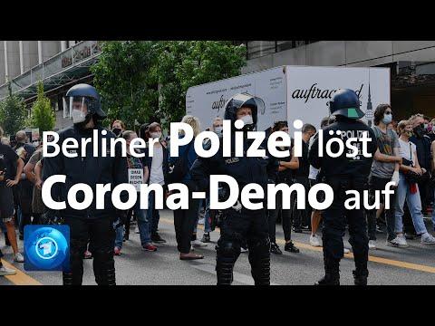 Berliner Polizei löst Demo gegen Corona-Maßnahmen auf