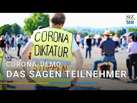 Querdenken-Demonstration in Stuttgart - Was sagen die Teilnehmer?