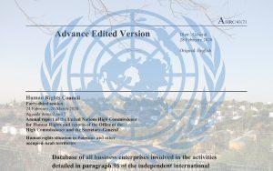 Boykottiert diese Firmen! Veröffentlichung der Vereinten Nationen.