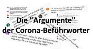 Meinungen von Corona-Befürwortern