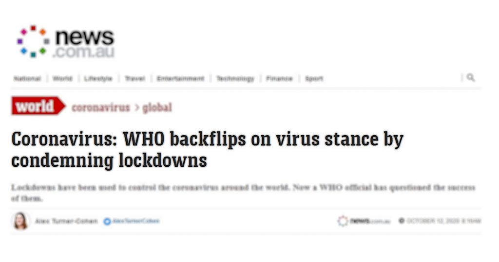 Coronavirus: WHO verurteilt Lockdowns