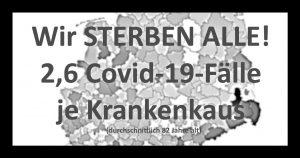 NOTSTAND: 2,6 Covid-19 Patienten je Krankenhaus! Propaganda!
